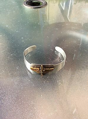 WW2 Untied States Army Airforce Silver Christmas B.A.B - H.E.C Bangle 1944