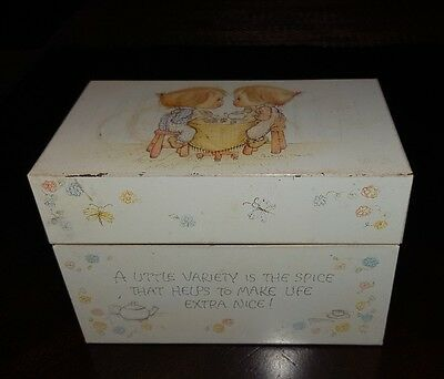 Vintage Hallmark Betsey Clark Recipe Box 3x5 Tin Variety Is the Spice of Life