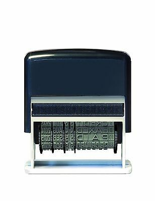 Self-inking 12 in 1 date stamp