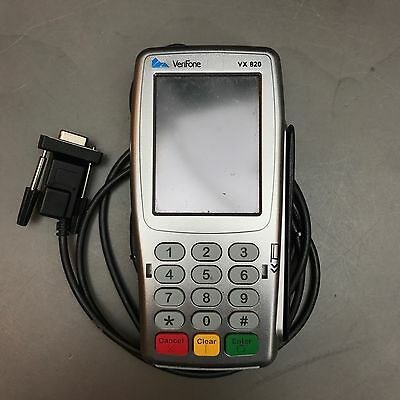 VeriFone VX 820 Card Payment Terminal Chip & Pin Swipe Machine & Power Supply