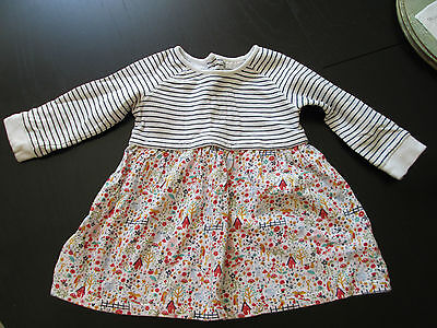 Baby Girl's Next Long Sleeved Dress Age 9-12 Months