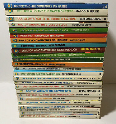 Lot of 25 Doctor Who Target Paperbacks