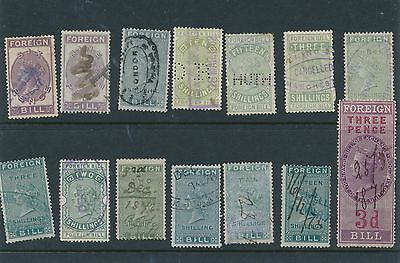 Gb  67 Revenue & Fiscal Stamps India Many Queen Victoria Issues