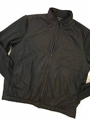 men's THEORY full zip long sleeve jacket quilted black size US XL
