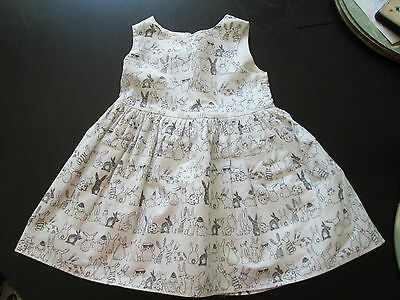 Baby Girl's Next white Rabbits Dress Age 6-9 Months