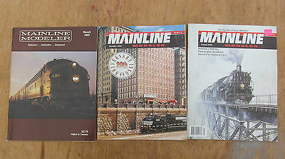 Mainline Modeler Magazine Lot Of 3 Issues 3/83, 12/99, 1/02  In Good Condition!!