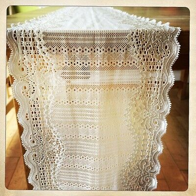 1 Off White Finest Lace - Wedding Decoration / Table Runner