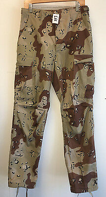 Us Gi Desert Camouflage 6 Color Pattern Pants Size: Small Regular Nwot (15_166)