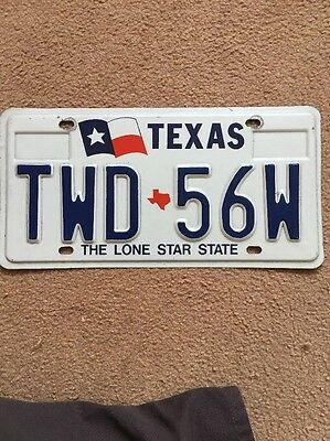 American licence plate TEXAS With Hologram