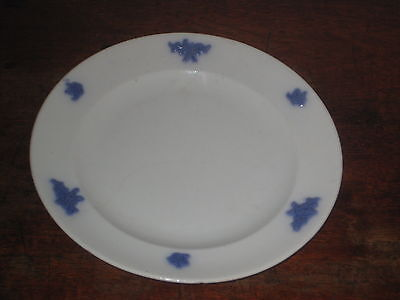 English Lilac Sprigged Staffs Plate 17.5 Cms   19Th C