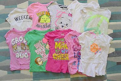 Lot of 10 Girls Graphic T Shirts Size 7 Almost All Justice Brand