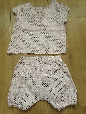 2 Piece Set T Shirt And Shorts Baby Girl Size 3-6 Months