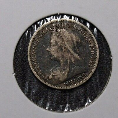 1900 Great Britain 3 Pence Silver