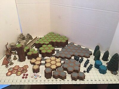 Lot Of Heroscape Tiles And Pieces