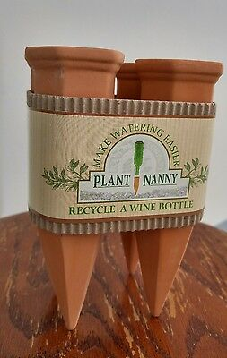 Plant Nanny- simple, easy self watering system for plants. Set of 4. New in box
