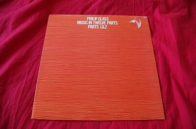 PHILIP GLASS MUSIC IN TWELVE PARTS Parts 1 & 2 vinyl lp 1974