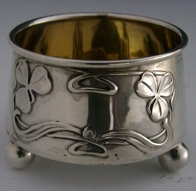 BEAUTIFUL GERMAN 800 SILVER ART NOUVEAU SALT CELLAR c1900 ANTIQUE