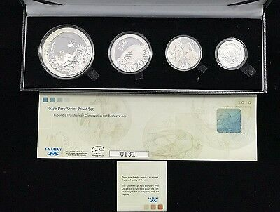 2010 South African 4 Coin Proof Set 50, 20, 10, 5 Cents Peace Parks Lubombo