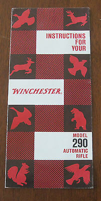 1961 Instruction Brochure For Winchester Model 290 Automatic Rifle