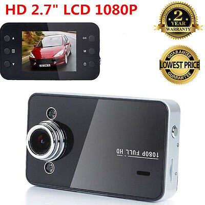 "2.7"" HD 1080P Car DVR Camera Video Recorder LCD Night Vision Vehicle Dash Cam RG"