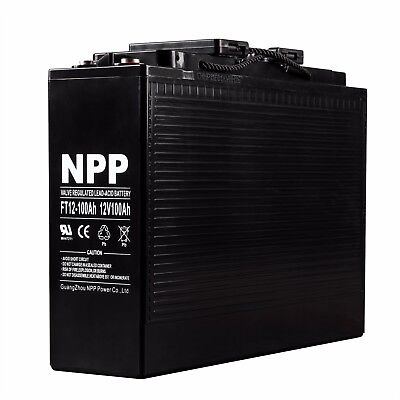 NPP FT12 12V 100Ah Front Access AGM Battery Replaces Northstar NSB 100FT