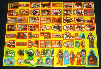 1980 Topps Star Wars Empire Strikes Back Series 1 Sticker Set 1-33 SEE DESC