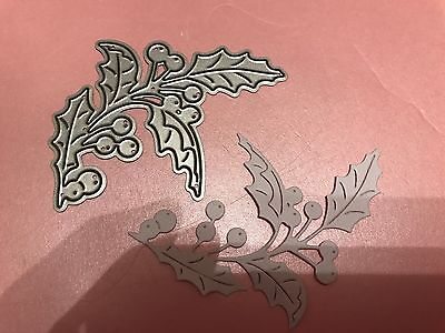 Tattered Lace Holly Swirls Cutting And Embossing Die Lot 2