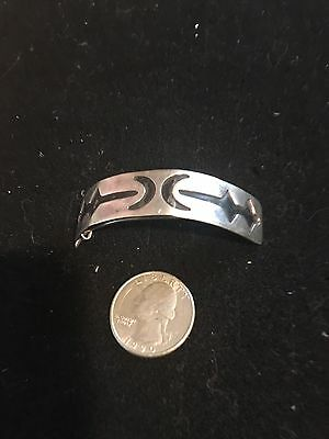 Vintage Native American Jewelry  Sterling Silver Hair Barrette! 3 Inches