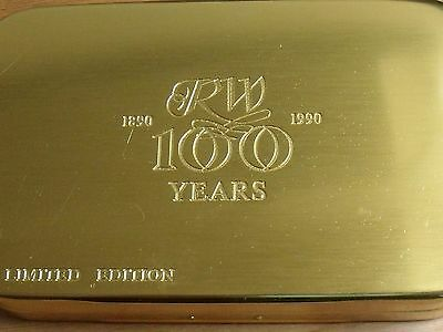 Richard Wheatley Ltd. Edition 100 Yrs Anniversary Gold Fly Box with Pouch