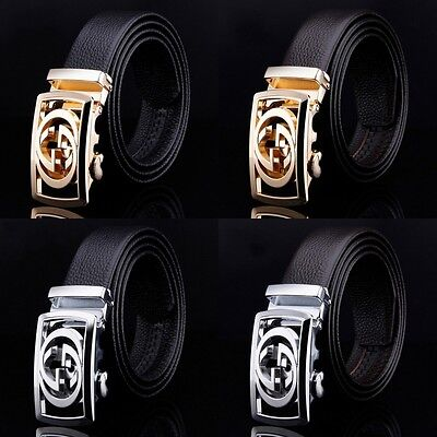 Hot New Mens Designer Leather Belt Fashion Automatic Buckle Waist Strap Casual