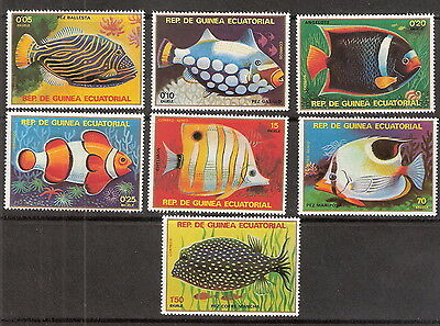 Equatorial Guinea 1979 Tropical Fish Set of 7 MNH