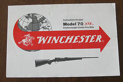 Instruction Brochure For Winchester Model 70 Xtr Featherweight Center Fire Rifle