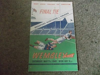 1949 Rugby League Challenge Cup Final Bradford Northern V Halifax @ Wembley 7/5