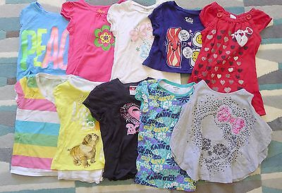 LOT of 10 Girls Summer Tshirts and Tops SIZE 6/7 Sm Justice Old Navy Etc