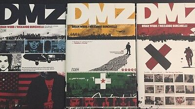 DMZ Deluxe Edition Hardcover Graphic Novel Collection Volume 1-5