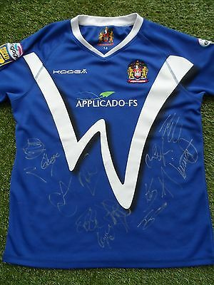 Wigan Warriors Shirt Hand Signed by 2017 Squad - Rugby League - 14 Autographs