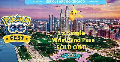 Pokemon Go Fest - 1 Ticket / Wristband! - GUARANTEED! Free Worldwide Shipping!