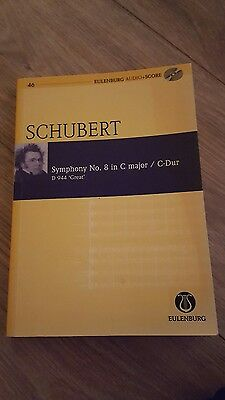 Shubert Symphony No. 8 in C Major/C-Dur D 944  Great by Eulenburg (Mixed media …