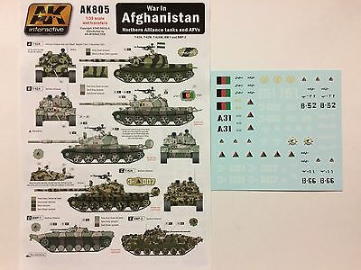 1/35 Ak Interactive Ak805 : Planche Decals Chars Blindes Afghanistan Rebelles
