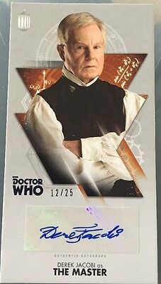 """Doctor Who Tenth Doctor Autograph Card bronze   Derek Jacobi """"The Master""""  12/25"""
