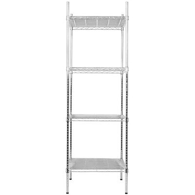 "Heavy Duty 24"" x 24"" x 74"" Rack Silver Chrome Wire Storage Shelf Kit Commercial"