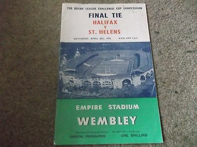 Vintage 1956 Rugby League Challenge Cup Final Halifax V St Helens @ Wembley