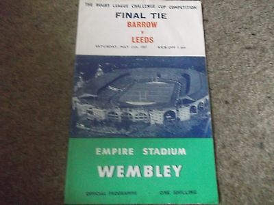1957 Rugby League Challenge Cup Final Barrow V Leeds @ Wembley 11Th May 1957