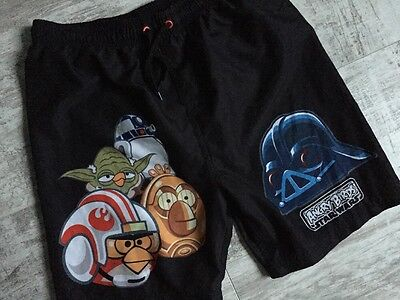 Boys Summer Angry Birds Star Wars Black Shorts NEXT Age 11-12 Years