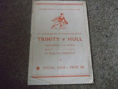 Wakefield Trinity V Hull Rl Challenge Cup 2Nd Round Replay 11Th March 1959