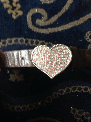 Brown Leather Effect Belt With Heart Buckle Age 3-6
