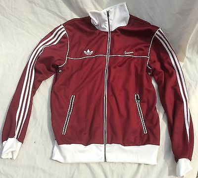 Mens Vintage Rare Adidas Vespa Zip Up Tracksuit Top Size XL 44 Inch Chest