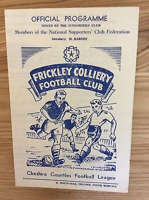 Frickley Colliery v Witton Albion (CCL) 9/9/1967 programme