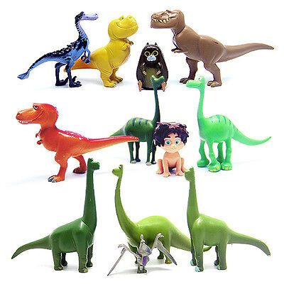 12pcs Movie The Good Dinosaur Action Figures Cake Toppers Doll Kids Boy Girl Toy
