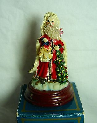 Christmas Santa Holiday Figurine In Original Box